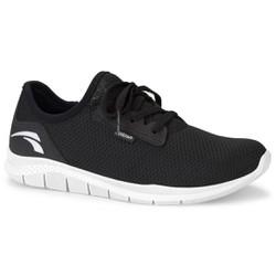 Tênis Caminhada Feminino - Preto / Sola Branca - KOK8681PT - Pé Relax Sapatos Confortáveis