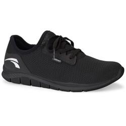 Tênis Caminhada Feminino - Preto / Sola Preta - KOK8681PP - Pé Relax Sapatos Confortáveis