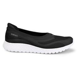 Tênis Sapatilha com Palmilha Massageadora - Preto / Chumbo - KOK8712PT - Pé Relax Sapatos Confortáveis
