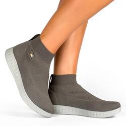 Tênis Cano Alto Fascite Plantar e Joanete Grafite - CAL6151CZ - Pé Relax Sapatos Confortáveis