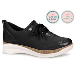 Tênis Feminino para Joanete - Preto - CAL7041PT - Pé Relax Sapatos Confortáveis