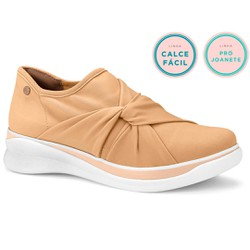 Tênis para Joanete - Caramelo - CAL7045CA - Pé Relax Sapatos Confortáveis