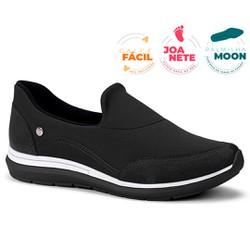 Tênis Feminino para Joanete e Esporão - Preto - CAL7321PT - Pé Relax Sapatos Confortáveis