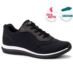 Tênis Feminino para Joanete e Esporão - Preto - CAL7323PT - Pé Relax Sapatos Confortáveis