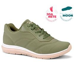 Tênis Feminino para Joanete e Esporão - Verde Militar - CAL7323VD - Pé Relax Sapatos Confortáveis
