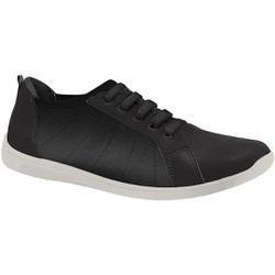 Tênis Confortável com Cadarço Elástico - Preto - MA434019PT - Pé Relax Sapatos Confortáveis
