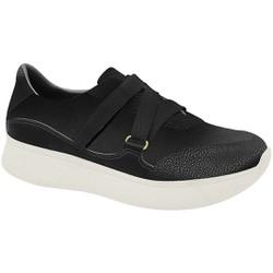 Sneaker para Esporão e Fascite - Preto com Velcro - MA673010PT - Pé Relax Sapatos Confortáveis