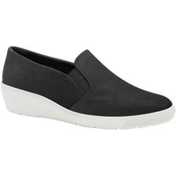 Tênis Esporão e Fascite com Elástico - Preto / Sola Branca - MA859001PT - Pé Relax Sapatos Confortáveis