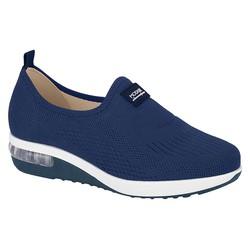 Tênis c/ Amortecedor para Esporão e Fascite - Azul - MO7320217AZ - Pé Relax Sapatos Confortáveis