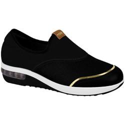 Tênis c/ Amortecedor para Esporão e Fascite - Preto - MO7320225PT - Pé Relax Sapatos Confortáveis