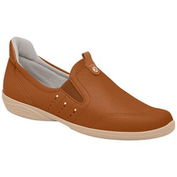 Sapatênis Feminino para Esporão e Fascite - Ocre - PI955028OC - Pé Relax Sapatos Confortáveis