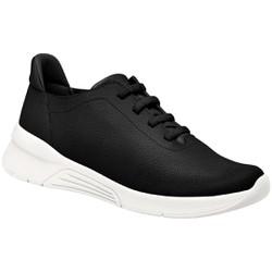 Tênis para Esporão e Fascite - Preto / Sola Branca - PI970042PT - Pé Relax Sapatos Confortáveis