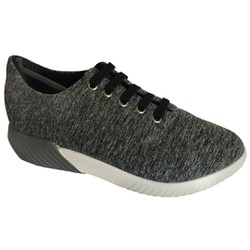 Tênis para Caminhada Feminino - Cinza - MA633007CZ - Pé Relax Sapatos Confortáveis