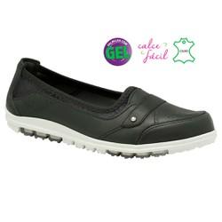 Tênis Couro e Palmilha Gel - Preto - KOC0522RPT - Pé Relax Sapatos Confortáveis