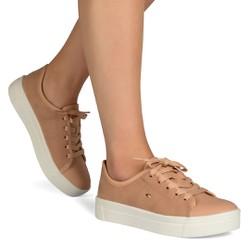 Tênis Feminino Confort - Peach - DAG0841PE - Pé Relax Sapatos Confortáveis