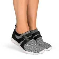 Tênis Caminhada Feminino - Branco - KOK8528BR - Pé Relax Sapatos Confortáveis