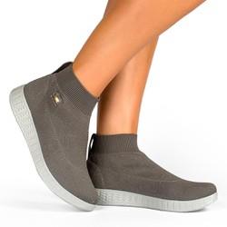 Tênis Fascite Plantar Feminino - Cinza - CAL6151CZ - Pé Relax Sapatos Confortáveis