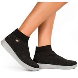 Tênis Meia Joanete e Esporão - Preto - CAL6151PT - Pé Relax Sapatos Confortáveis
