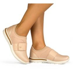 Sapato Casual Feminino - Bege - CAL6571BG - Pé Relax Sapatos Confortáveis