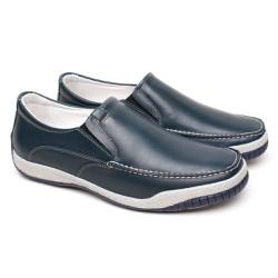 Mocassim Masculino Confort Tamanho Grande - Chumbo - FB6000C - TG - Pé Relax Sapatos Confortáveis