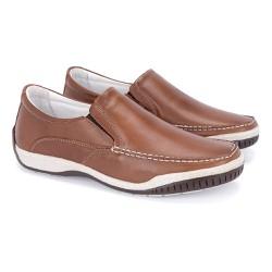 Mocassim Masculino Confort Tamanho Grande - Pinhão - FB6000PI - TG - Pé Relax Sapatos Confortáveis