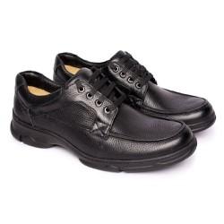 Sapato Masculino Confortável - Preto - FB2002P - Pé Relax Sapatos Confortáveis