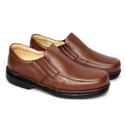 Sapato Masculino Tamanho Grande - Marrom - FB606M - TG - Pé Relax Sapatos Confortáveis