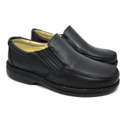 Sapato Masculino Confortável - Preto - FB606P - Pé Relax Sapatos Confortáveis