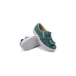 Slip On Laço Infantil Verde Pino DKShoes