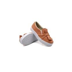 Slip On Laço Infantil Laranja Papaya DKShoes