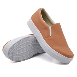 Slip On Liso Laranja Papaya DKShoes