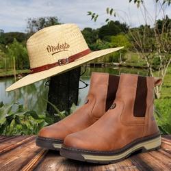Kit Bota Farmer Act Whisky + Chapéu de Palha Modes... - ACT Footwear