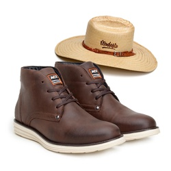 Bota ACT Classic Café + Chapeu de Palha Modesto - ACT Footwear