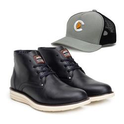 Bota ACT Classic Preto + Boné - ACT Footwear
