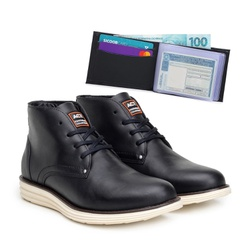 Bota ACT Classic Preto + Carteira Preto - ACT Footwear