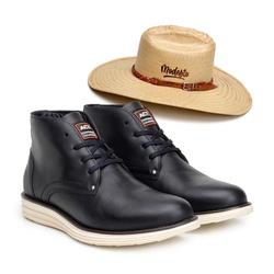 Bota ACT Classic Preto + Chapeu de Palha Modesto - ACT Footwear