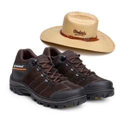 Bota ACT Explorer Café + Chapeu de Palha Modesto - ACT Footwear