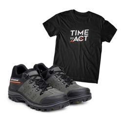 Bota ACT Explorer Cinza + Camiseta Preto - ACT Footwear