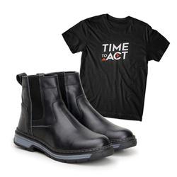 Bota Farmer Act Preto + Camiseta Preta - ACT Footwear