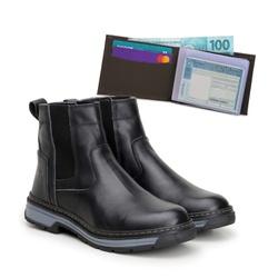 Bota Farmer Act Preto + Carteira Café - ACT Footwear