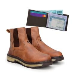Bota Farmer Act Whisky + Carteira Café - ACT Footwear