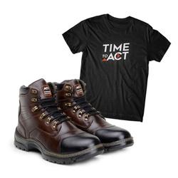 Bota ACT Guerrilha 2189 Castanho + Camiseta Preto - ACT Footwear