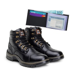 Bota ACT Guerrilha 2189 Preto + Carteira Preto - ACT Footwear