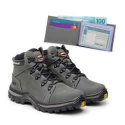 Bota ACT Robust Cinza + Carteira Cinza - ACT Footwear
