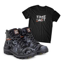 Bota ACT Scavator Camuflado + Camiseta Preto - ACT Footwear