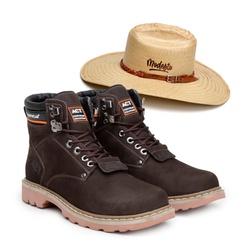 Bota ACT Second Shift Café + Chapeu de Palha Modes... - ACT Footwear