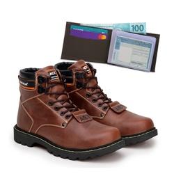 Bota ACT Second Shift Crazy Horse + Carteira Café - ACT Footwear