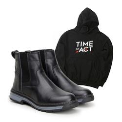 Bota Farmer Act Preto + Moletom Preto - ACT Footwear