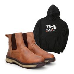 Bota Farmer Act Whisky + Moletom Preto - ACT Footwear
