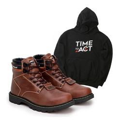 Bota ACT Second Shift Crazy Horse + Moletom Preto - ACT Footwear